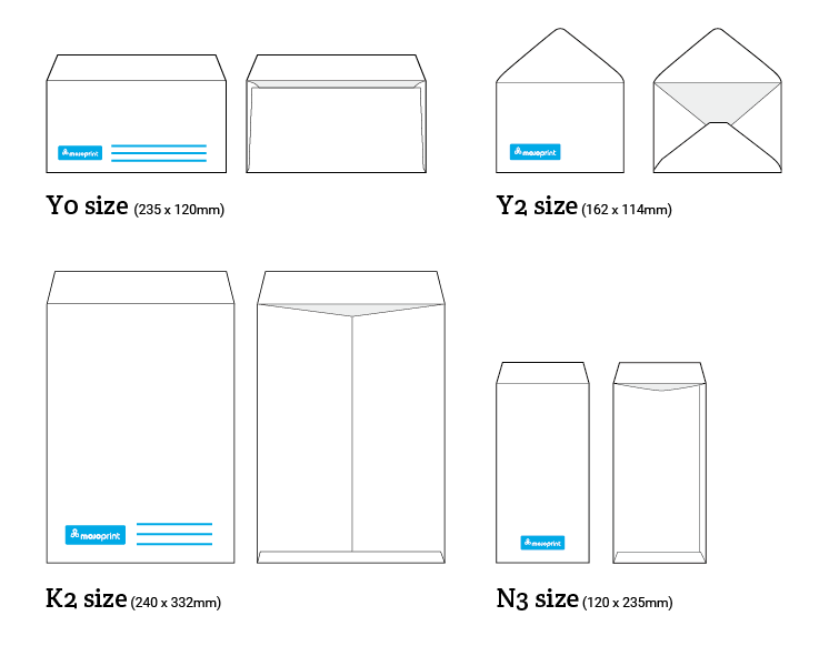Mojoprint envelope sizes