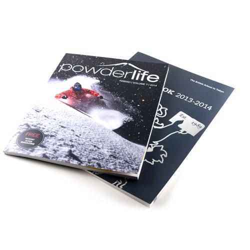 Glue-bound magazines