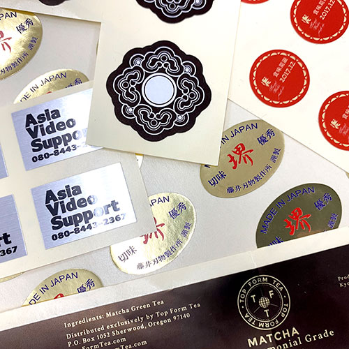 Custom-shaped stickers