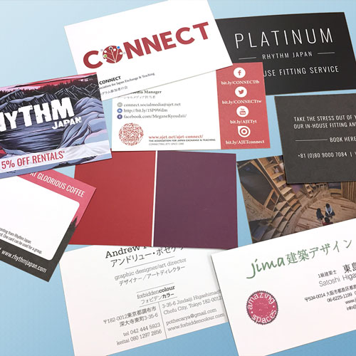 Laminate business cards